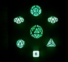 glowing dice